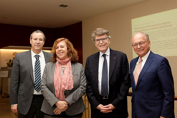 Miguel Berger, Clara Portela, Thierry de Montbrial and Wolfgang Ischinger.